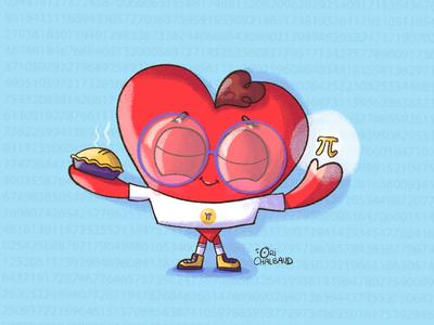 Pi Day Heart