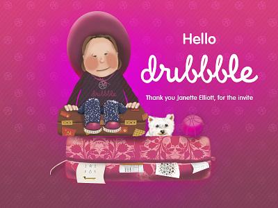Thank you Janette Elliott arrival thanks invitation illustration travelling first shot debut thank