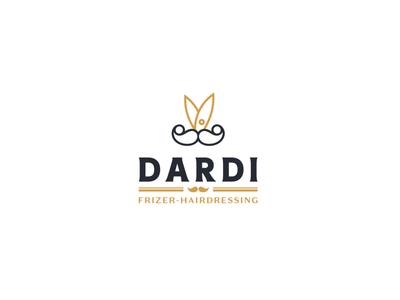 Barber DARDI Logo color barbershop illustration sketch brading logo a day design brand and identity logos logodesign logo barber barber logo