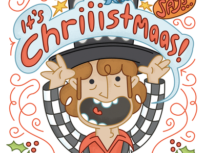 Noddy Holder Christmas Card christmas card xmas cristmas slade noddy holder