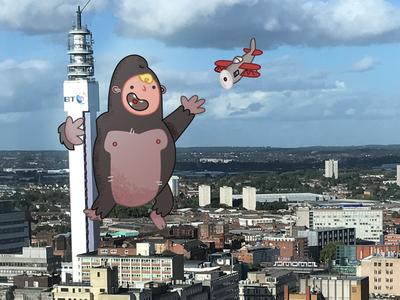 Kid Kong character design skyline birmingham king kong kidkong