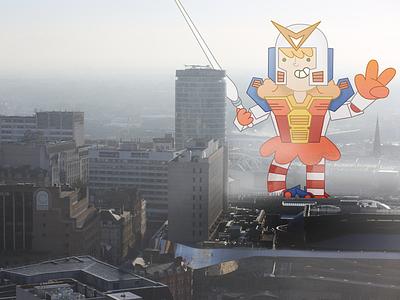 Mega-Girl! super-heroes birmingham character design mega-girl