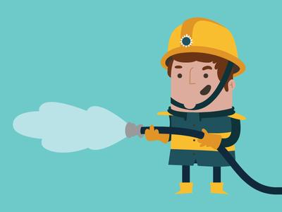 Fireman fireman character design animation