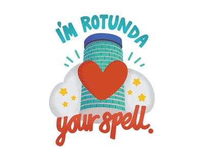 Rotunda your spell messenger stickers stickers valentines love brummy brummie rotunda birmingham