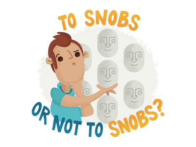 To Snobs or not to Snobs? stickers illustration snobs birmingham