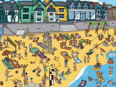 Travel Supermarket seaside travel holiday illustration panorama beach