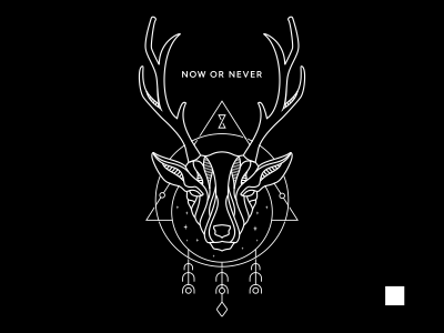 Deer symbol triangle horn antler artwork monoline geometry mono-line deer