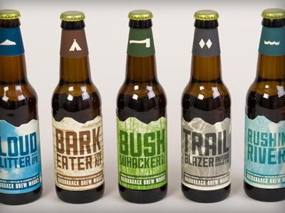 ADK Brew Works packaging beer adirondacks branding