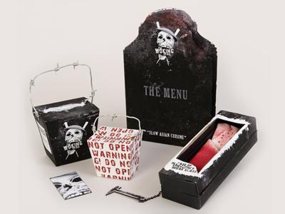 The Woking Dead the walking dead zombies restaurant illustration branding