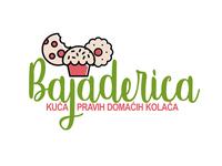 Bajaderica - logo for homemade cookies company