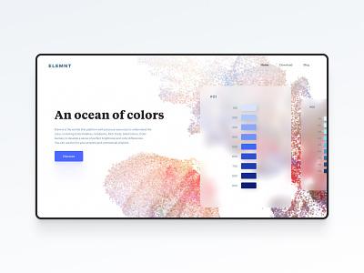 Color palette tool interface design bordeaux french designer minimal clean colorful blur figma palette colors color