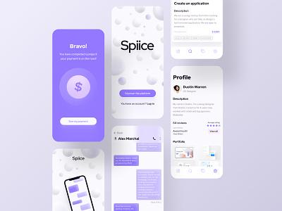 Freelance platform details #2 platform freelance uxui illustration interface design french designer kit ui free figma clean bordeaux app design application app