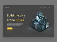 City of the future - landing page