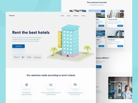 Hotel rental - Landing page