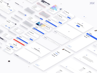 EXO KIT Design System isometric clean template exo bordeaux french designer interface design ui kit figma freebies free kits ui kit system design