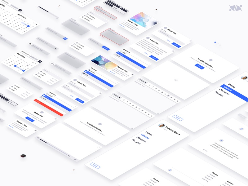 EXO KIT details template ui kit ui system kits kit isometric interface design french designer freebies free figma exo design clean bordeaux