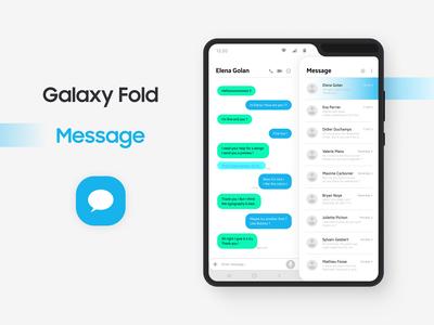 Galaxy Fold - Message App