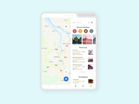 Google Maps App - Galaxy Fold
