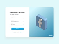 Facebook Onboarding Screen Concept