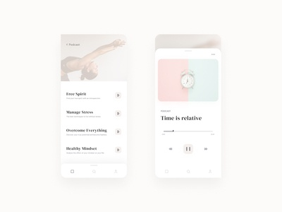 Meditation Podcast App Concept