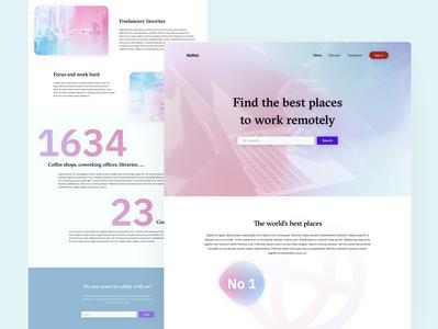 Daily UI 003 : Landing page