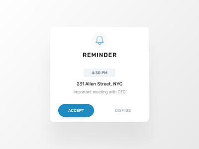 Daily UI 016 ux  ui minimal simple figma interface design bordeaux french designer app reminder popup 016 dailyuichallenge dailyui