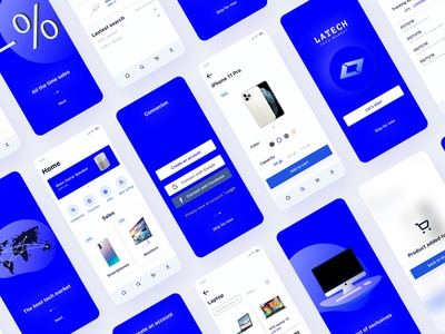 UI kit 01 preview : tech market