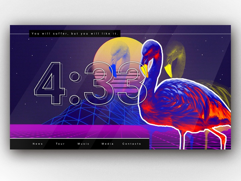 Some exploration free music concept inspiration website web color design