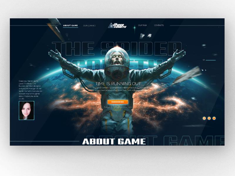 game dark teme site lending web ui website design game