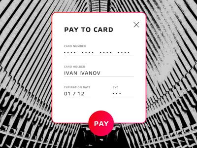 Credit Card Checkout dailyui 002 concept design