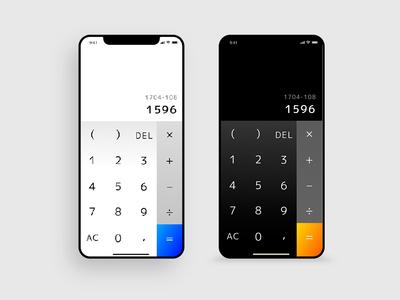 Calculator 004 dailyui app calculator web design ui concept