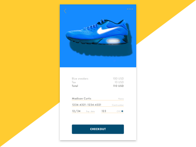 Daily UI #002: Credit Card online shopping shopping card shoes user interface ui payment credit card daily ui 002 dailyui002 daily ui dailyui