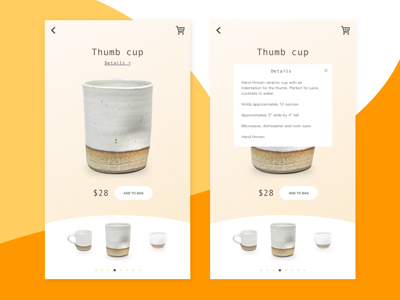 Daily UI #012: Product ceramic business item product app ui daily ui 012 012 dailyui012 dailyui daily ui