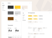 WIP Design System components ui components states buttons roboto typography color palette guide styletile styleguide stickersheet design system design