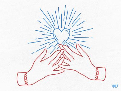 open heart blackboozeillustrations design digital love heart art vector hands hand illustration