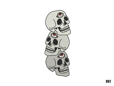 skulls tattooart digital blackboozeillustrations eyes dead vector art illustration skull