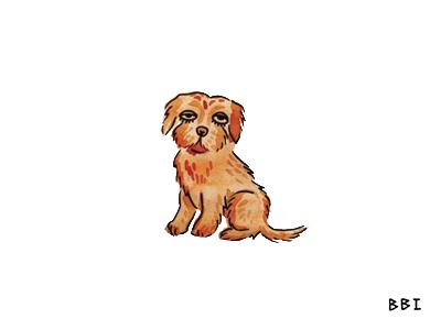 Puppo watercolor drawing blackboozeillustrations illustration puppy dog