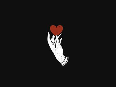 Giver illustration art white black icon sick love pain hand heart