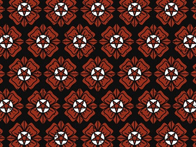 Evil Pattern illustration icon flower red devil pentagram art tattoo rose evil pattern