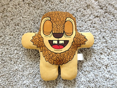 Lion lion toy plushform artcore illustration smile