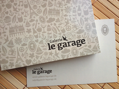 Post Card - Galerie le garage galerie garage artcore postcard pattern