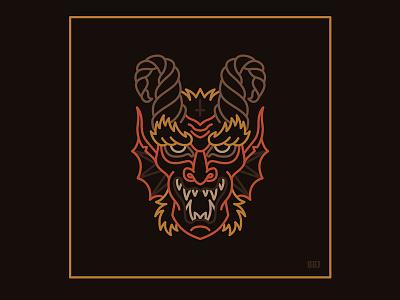 Devil dark evil devil design blackboozeillustrations logo tattooart icon tattoo art black vector illustration