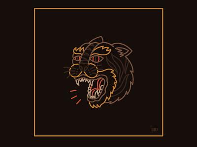 Tiger danger tiger blackboozeillustrations design logo tattooart icon tattoo black art vector illustration