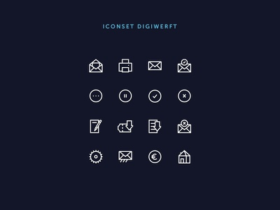 Iconset Digiwerft 16x16 digital white interface design uidesign ui icons icon