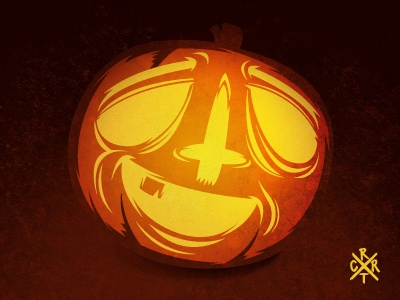 RTCR Pumpkin cross pumpkin halloween artcore illustration vector