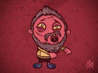 Zombie with beard