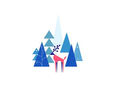 Happy Holidays! rein deer new year vector thankyou xmas trees 2017 christmas