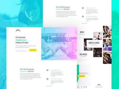 Jaiby - Perks that Matter design ui minimal clean rewards perks employer employee deals