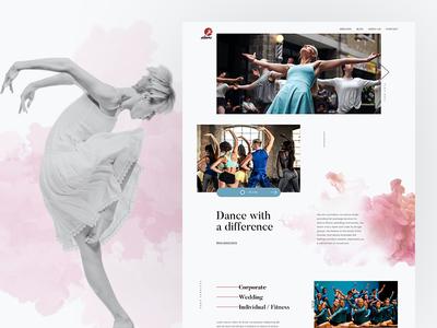 Dans Studio corporate modern clean ui website studio academy dance