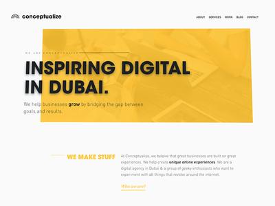 New Conceptualize Site!!! new website web design ux ui typography type responsive fresh design
